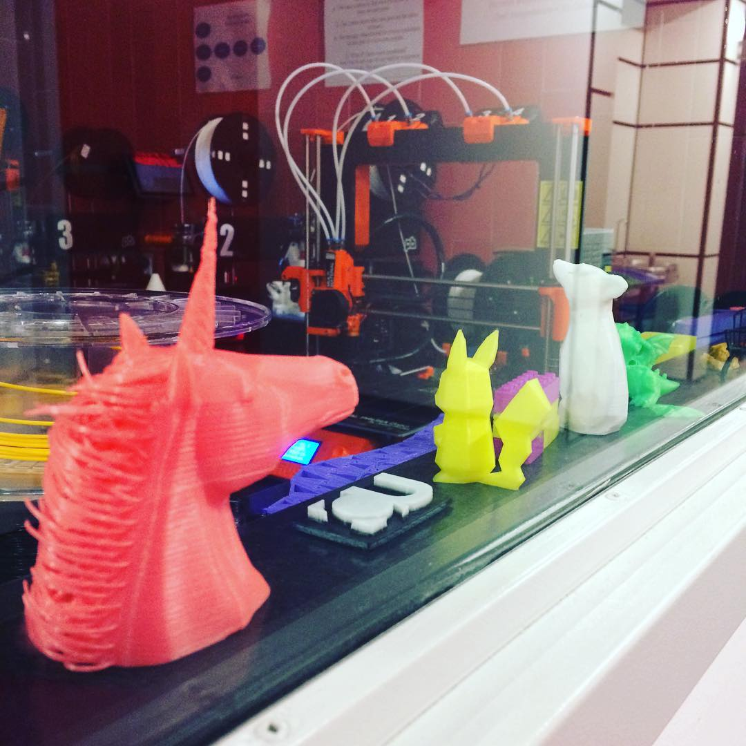 3D printing room at the Technology Sandbox, Webster Library
