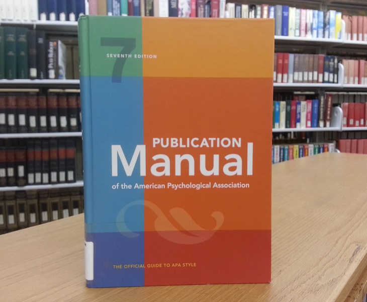 New APA Style Guide, 7th edition, now available