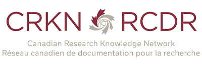 Canadian Research Knowledge Network burgundy and grey logo