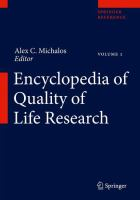 Encyclopedia of quality of life research