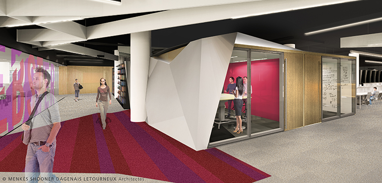 Study Hall design for renovated Webster Library